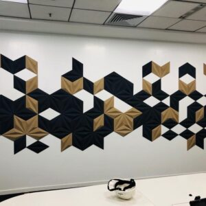 acoustic treatments in the office - cork acoustic panels
