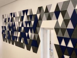 acoustic panel installation at a doctors' surgery - john atkinson interiors and acoustics