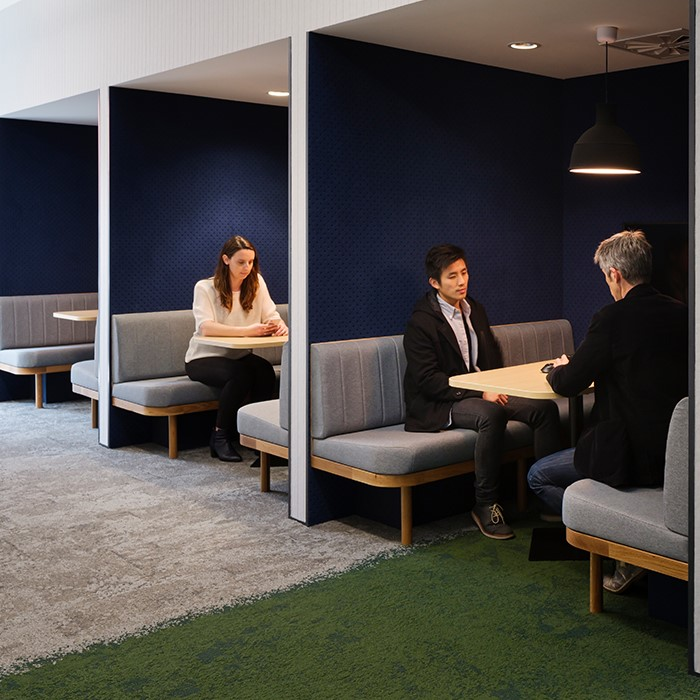 Acoustic Provacy Booths Installed In The Workplace - John Atkinson Interiors And Acoustics