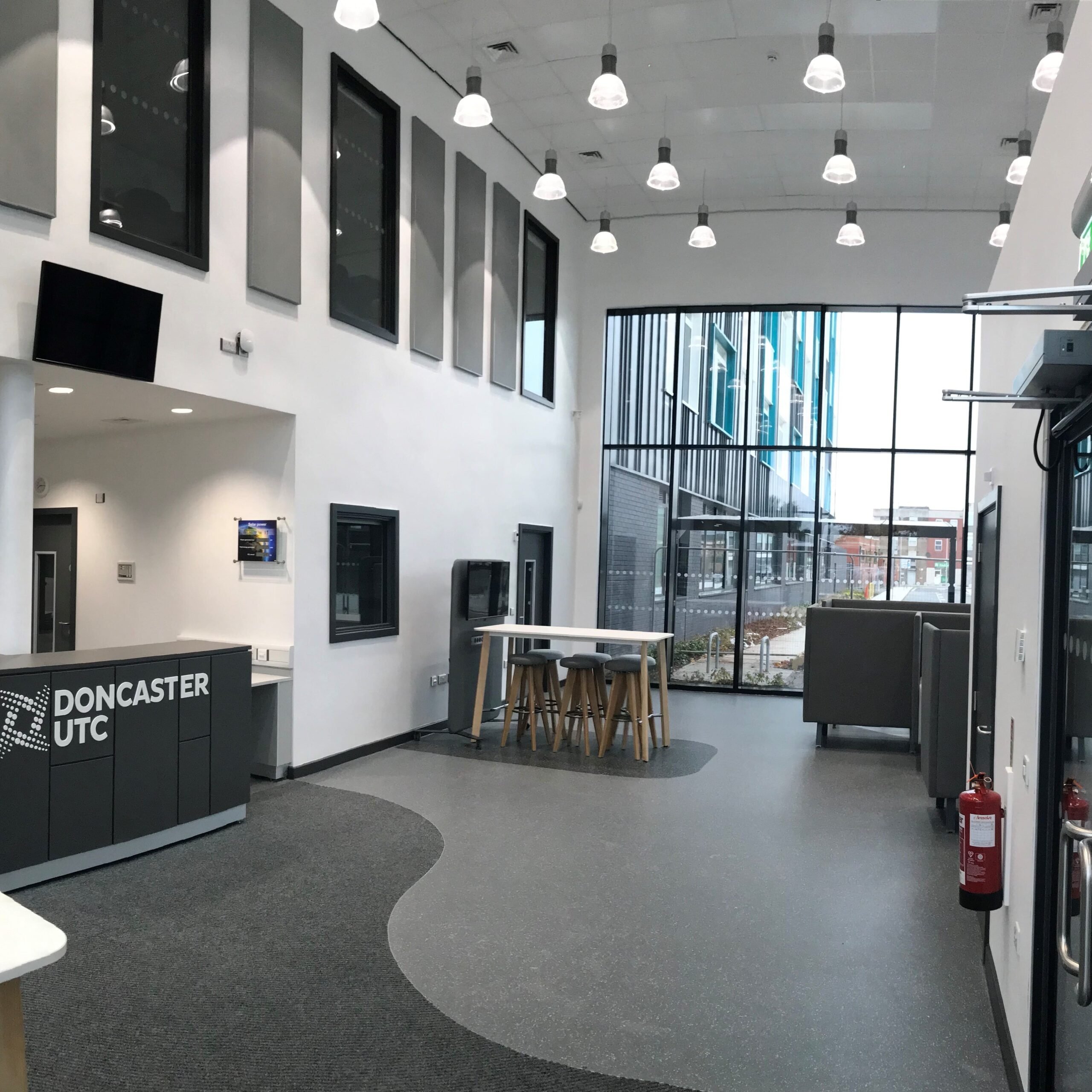 Rockfon Suspended Ceiling Installation For Doncaster UTC