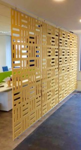Autex Cascade Static Office Screen installation - john atkinson interiors