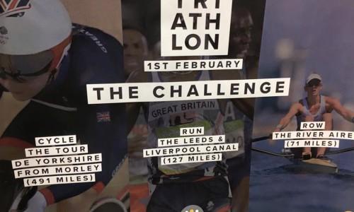 Triathlon Charity Poster