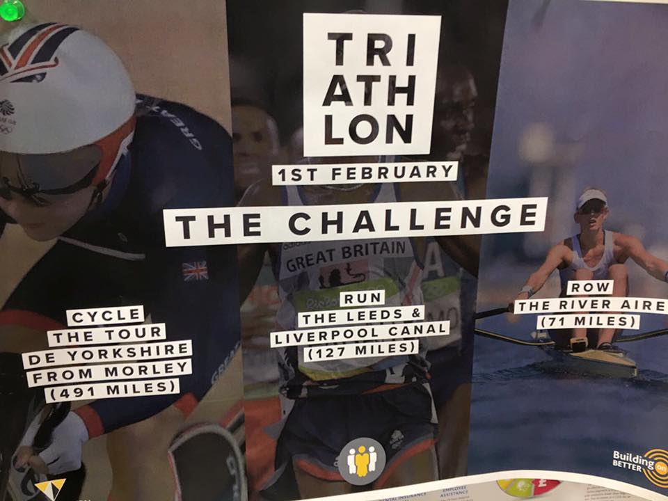 Triathlon Charity Poster