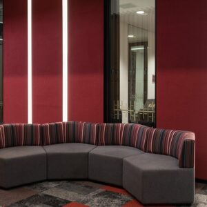 acoustic treatment in the office - autex composition