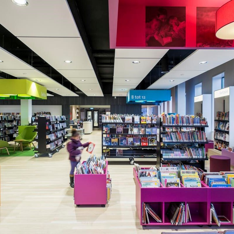 Acoustic Installation In A Book Shop - John Atkinson Interiors